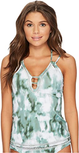 Lucky Brand - Indian Summer Plunge Tankini Top