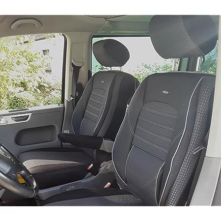 Seatcovers By K Maniac Sitzbezüge Vito Viano W639 Elite Fahrersitz Beifahrersitz Armlehnen Schwarz Anthrazit W639 T23 Auto