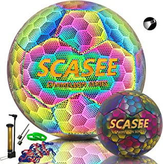 Soccer Ball Holographic Size 5 & Size 4 Flash Reflective...