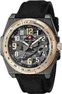 Men's 50505 37NR N Commando Analog Display Swiss Quartz Black Watch