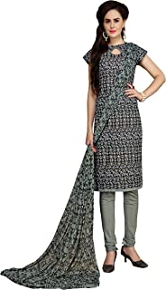 Minu salwar Cotton Printed Suit sets Grey(Elegance_2009)