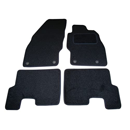 Universal ULTRA THICK Black//Red Shagpile Velour Car Mats FREE COLOURED TRIMS!