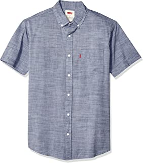 Men's Brato Short Sleeve, Classic Fit, Solid Woven Shirt