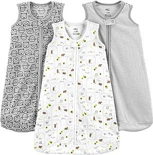 Baby 3-Pack Cotton Sleeveless Sleepbag Wearable Blanket