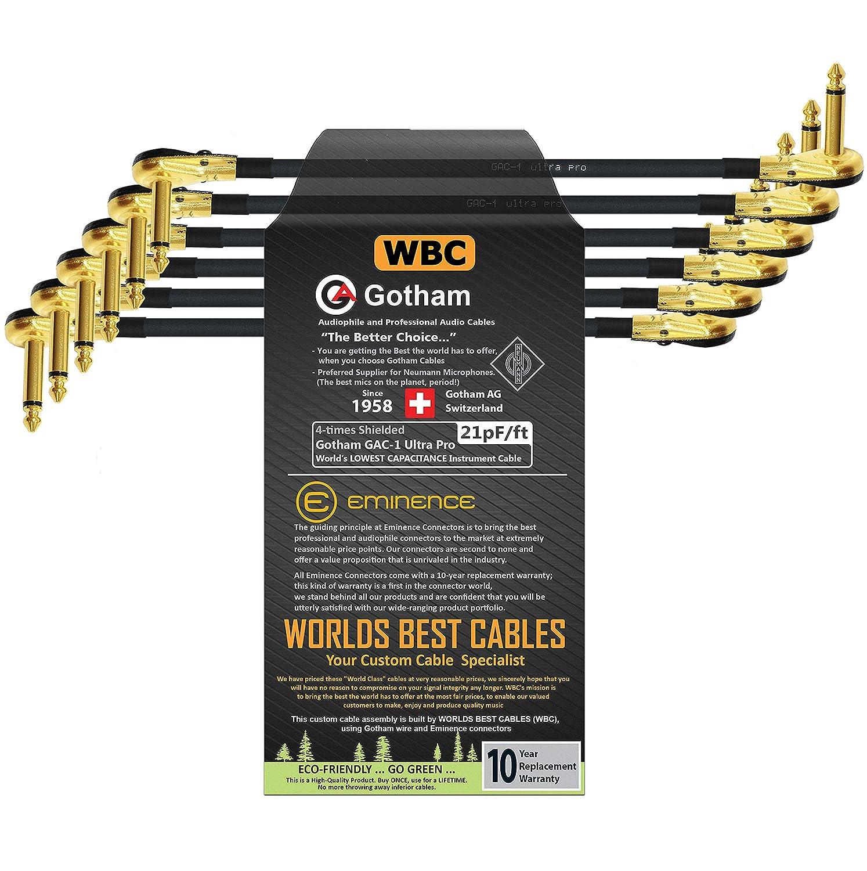 6 Units - 11 Inch Gotham GAC-1 ft Classic Low-Cap Pro Ultra Selling 21pF G