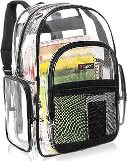 Clear Backpack Transparent See Thru School Security Heavy Duty Bookbag, MGgear