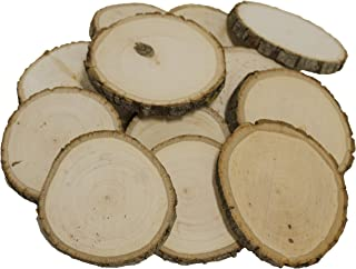 Walnut Hollow Bulk for & Rustic Weddings & Craft Projects, Basswood Coasters 12 Piece Pack, (12-Pack)