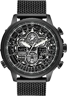 CITIZEN Mens Solar Powered Watch, Analog Display and Stainless Steel Strap JY8037-50E