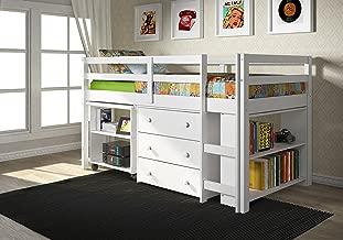 Donco Kids Low Study Loft Bed, White