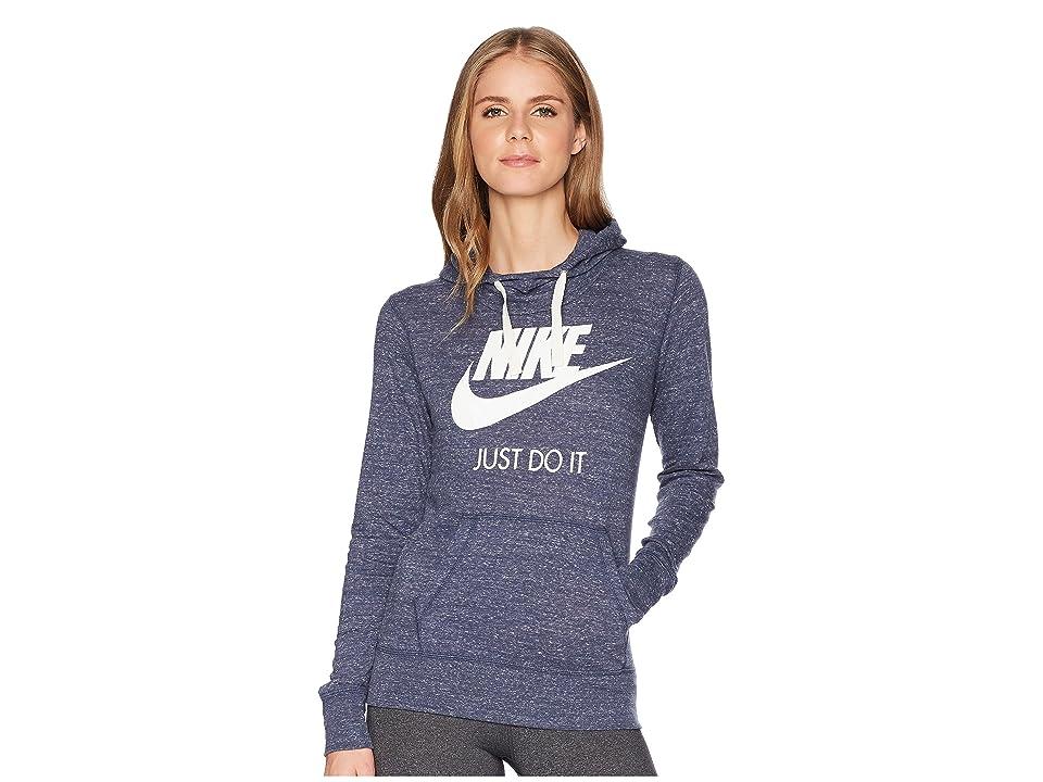 Nike Sportswear Gym Vintage HBR Hoodie (Thunder Blue/Sail) Women