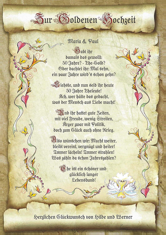 Goldene hochzeit spruch karte Glückwünsche, Sprüche