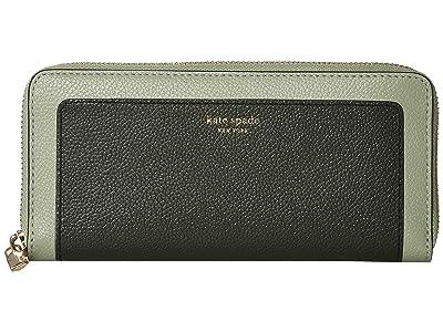 Kate Spade New York Margaux Slim Continental Wallet (Deep Evergreen Multi) Wallet Handbags