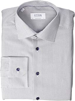 Contemporary Fit Textured Solid Dress Shirt