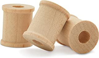 Mini Unfinished Wooden Spools 1/2 x 1/2 Inch -Pack of 100 by Woodpeckers