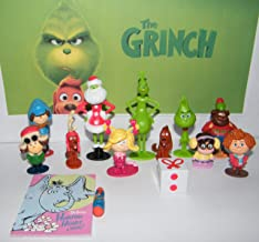 The Grinch Movie Deluxe Figure Toy Set of 14 with 12 Figures, Notebook and Eraser Featuring Classic and All Characters Including Groopert, Brinklebaum and More!