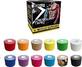 SOON GO Kinesiology Tape Sports Athletic Mucle Wrist Knee Ankle Elastic Waterproof Breathable 2 Inch x 16 Feet Beige 1 Roll