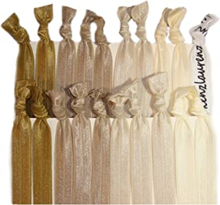 Kenz Laurenz Hair Ties No Crease Ribbon Elastics Ouchless Ponytail Holders Hair Bands 20 Blonde Ombre