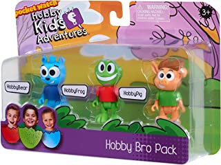 Kids Can Have Fun Playing Out Their Own Adventures Like On YouTube HobbyKids 3-Piece Hobby Bro Figure Set