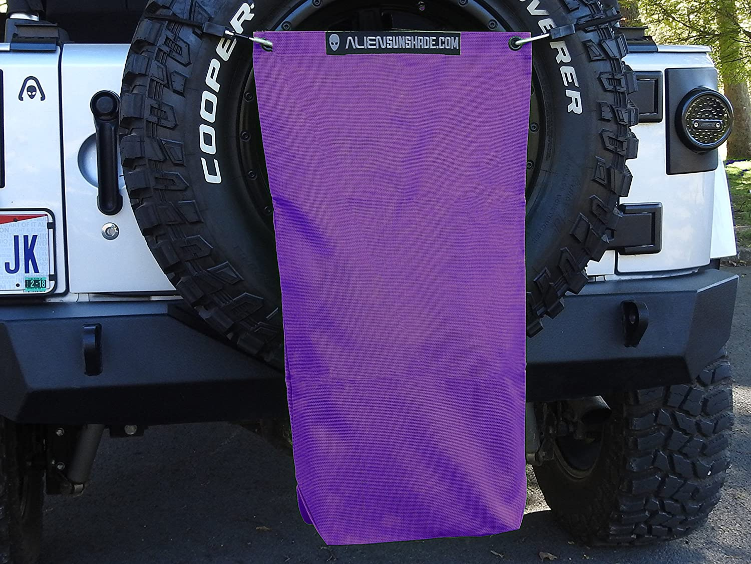 """Includes 48/"""" Carabiner Bungee ALIEN SUNSHADE Jeep Wrangler Mesh RubiSack Exterior Storage Bag for Trash or Trail Gear with 10 Year Warranty Royal Purple"""