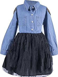 Poppi Street Bejeweled Denim Dress