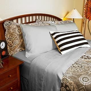 DTY Bedding Luxuriously Soft & Comfortable 4-Piece Tencel Lyocell Sheet Set, Made from 100% Eucalyptus Fiber, Hypoallergenic & Lightweight - Queen, Dove Gray