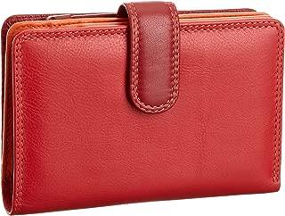 Visconti RB51 Multi Colored Red/Orange/Crimson Large Bifold Plus Soft Leather Ladies Wallet & Purse