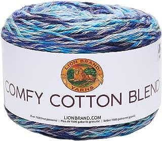Lion Brand Yarn 756-709 Comfy Cotton Blend Yarn, Ocean Breeze