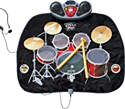 Global Gizmos Drum Kit Music Game Playmat ~ Kids, Fun ~ Includes Drumsticks ~ Interactive, Sounds ~ 52480 ""