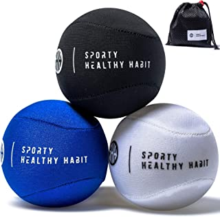 Hand Therapy Stress Ball 3 Pk for Adults and Kids - Relieve Stress/Strengthen Hands Fingers + Wrists - 3 Firmness Levels -...