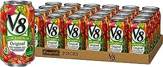 V8 Original Low Sodium 100% Vegetable Juice, 11.5 Fl Oz (Pack of 24)