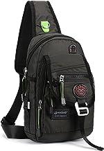 کیسه کیسه کیسه کیسه کیسه نیک جید کیسه کیسه های Crossbody برای آی پد قرص های پیاده روی در فضای باز (سیاه و سفید)