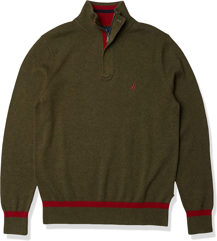 Nautica Max 76% OFF Free Shipping New Men's Classic Sweater Quarter-Zip Fit