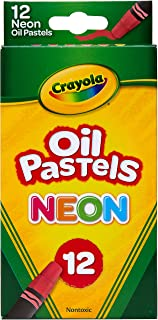 Crayola Oil Pastels, Assorted Neon Colors, Gift for Kids & Adults, 12 Count