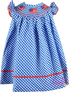 Baby Toddler Little Girls 4th of July Independence Day Patriotic USA Flag Stars & Stripes Dress