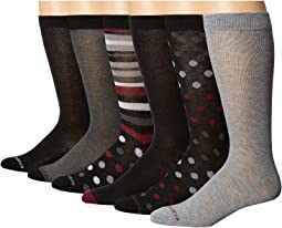 Steve Madden - 6-Pack Fashion Crew Socks - Pattern