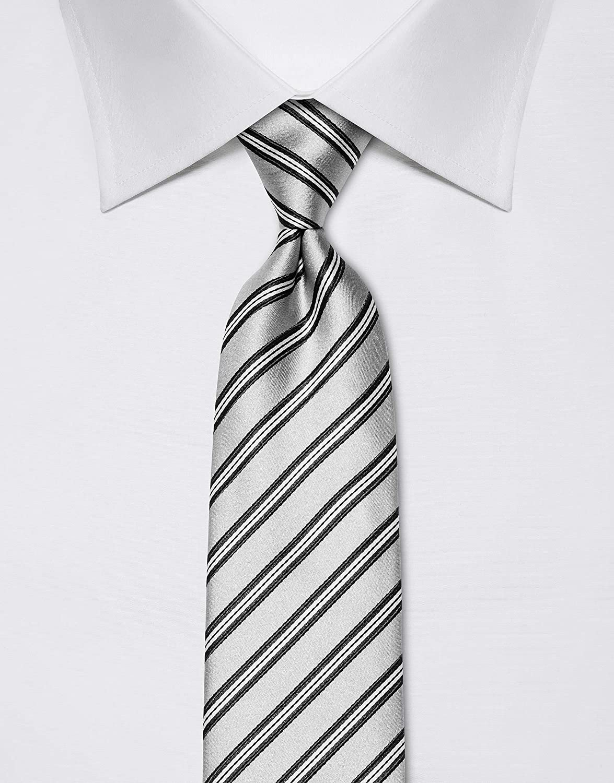 motivo a righe idrorepellente e antisporco Vincenzo Boretti cravatta elegante classica da uomo 8 cm x 15 cm di pura seta di alta qualit/à