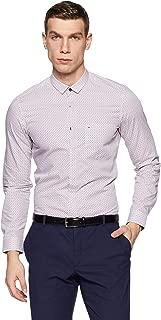 Indigo Nation Men's Printed Slim Fit Cotton Formal Shirt