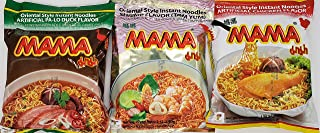 MAMA Ramen Style Instant Oriental Noodles Variety Pack Chicken, Duck & Shrimp Flavors 30 Pack