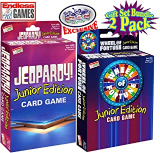 Endless Games Jeopardy! Junior Edition Card Game & Wheel of Fortune Junior Edition Card Game Gift Set Bundle - 2 Pack (Matty's Toy Stop Exclusive)