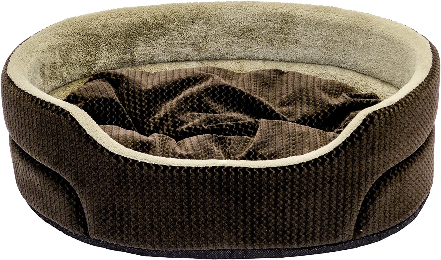 Dallas Manutacturing Co. Textured 19  Oval Pet Bed, Brown