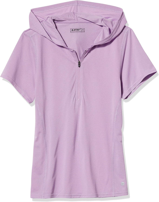 Hi-Tec Women's Melange Short Sleeve メーカー再生品 Half Sweater Sleev 《週末限定タイムセール》 Zip