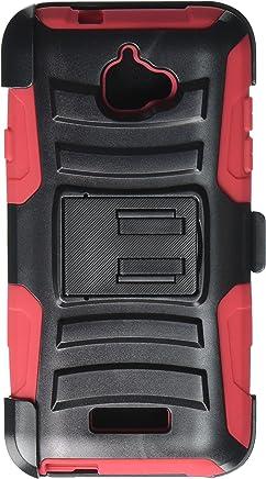 HRWireless HR inalámbrico Teléfono Celular Funda para Coolpad Catalyst, Color Negro/Rojo