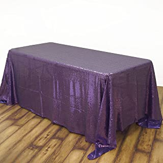 BalsaCircle 90x156-Inch Purple Rectangle Tablecloth for Wedding Party Cake Dessert Events Table Linens