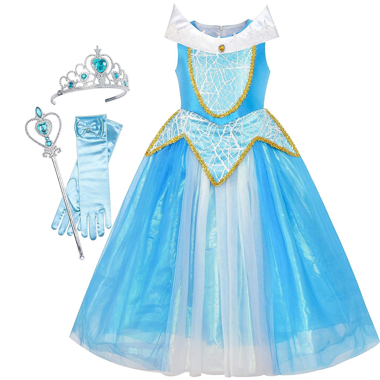 のお嬢様ドレス オーロラ コスチューム ブライア ローズ 付属品 クラウン マジック ワンド 130cm