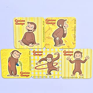 Curious George Refrigerator Magnets, 5 Cartoon Fridge Set, Birthday Party Favors