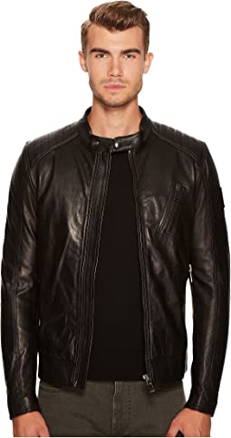 V Racer New Tumbled Leather Jacket