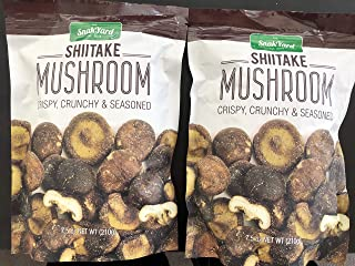 The Snak Yard Shiitake Mushroom 7.5 Oz Crispy Crunchy & Seasoned (Two Pack)
