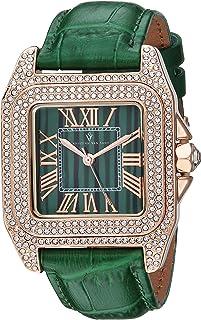 Christian Van Sant Women's Radieuse Quartz Watch with Leather Strap, Green, 19 (Model: CV4424)