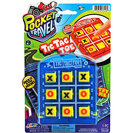 Mattel Games Travel TOSS Across Tic Tac Toe Tossing Game with Target Unit /& 2 Bean Bags for 2 Players Ages 5 Year Old /& Up
