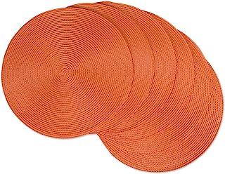 DII, Classic Round Placemats Orange CAMZ33314